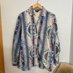 Cabelas Aztec print XL flannel type shirt